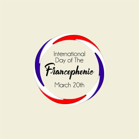 Typography design for International Day of the Franco phone with circle concept