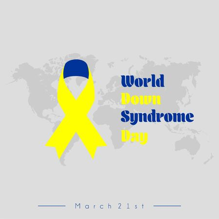 World Down Syndrome Day with banner vector design