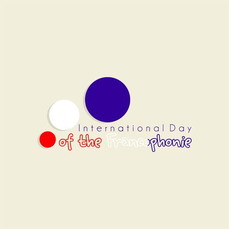 Typography design for International Day of the France