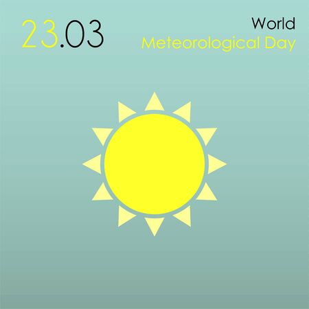 World Meteorological Day with sun icon