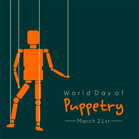 World Puppetry Day with Puppetry vector design