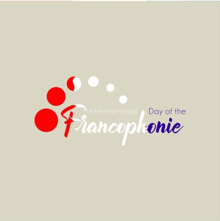 Typography design for International Day of the Franco phone with flying dot concept
