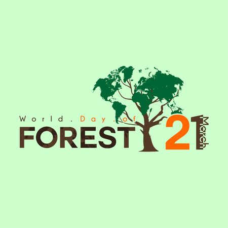 World Day of Forest on 21 march with tree vector design