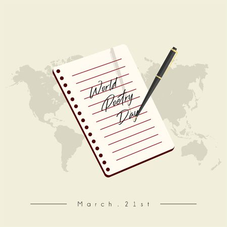 World Poetry Day on March 21st with pen writing