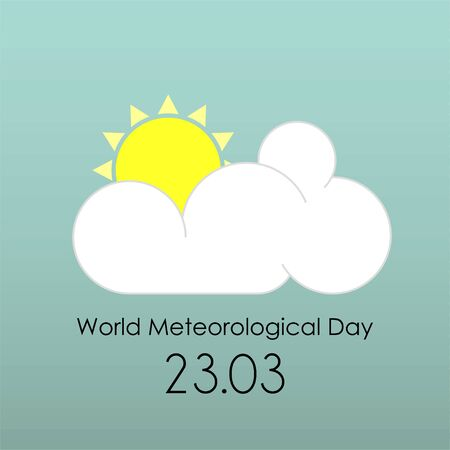 World Meteorological Day with overcast cloud icon