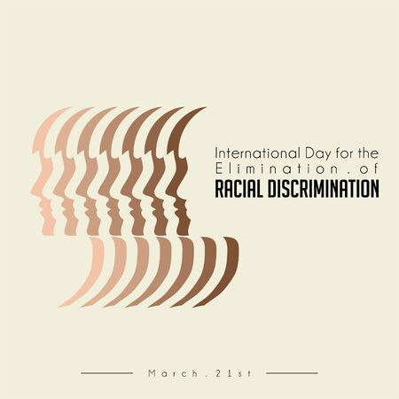 International Day for the Elimination of Racial Discrimination with skin people color