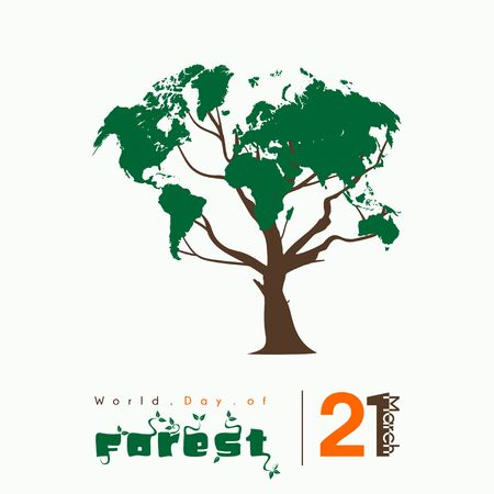 World Day of Forest with tree vector design
