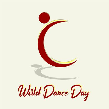 World Dance Day with dance icon vector cartoon Stock Photo