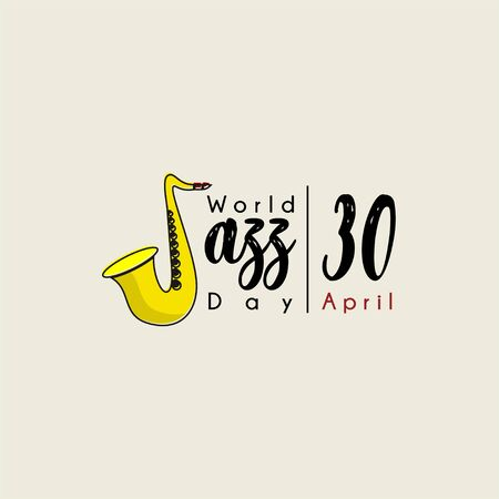 Typography for World Jazz Day on 30 April