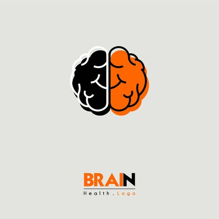 Brain and health cartoon icon seen from above