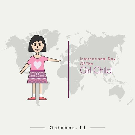 International Day of the Girl Child with The Girl Child cartoon and International Day of the Girl Child text