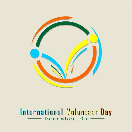 International Volunteer Day Typography with Volunteer icon