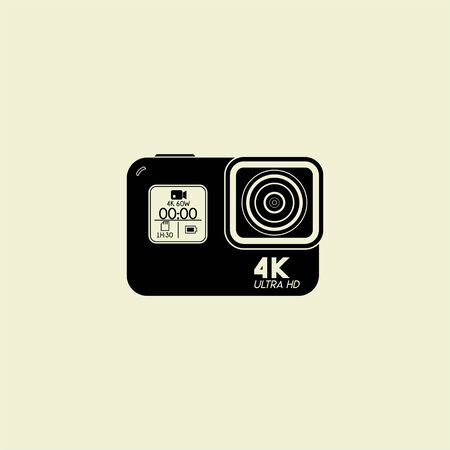 Action Camera Ultra HID Template vector design