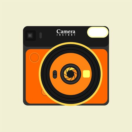 Instant Camera Template Vector Design