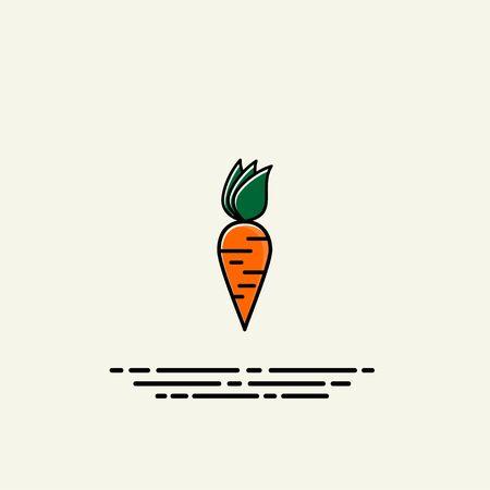Carrot cartoon template icon vector design