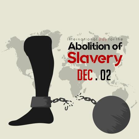 Internationaler Tag zur Abschaffung der Sklaverei, Fuß mit gebrochenen Handschellen und Eisenkugel