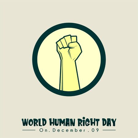 World Human Right Day with hand griping up icon vector
