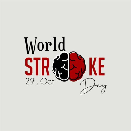 World Stroke Day on October 29, with Typography, Typescript Logo Design