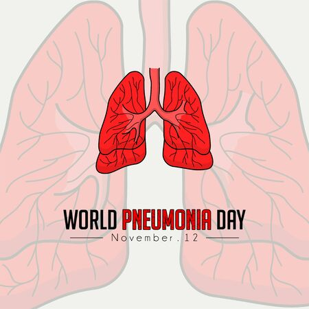 World Pneumonia Day, Lungs Cartoon Vector, Lungs Background