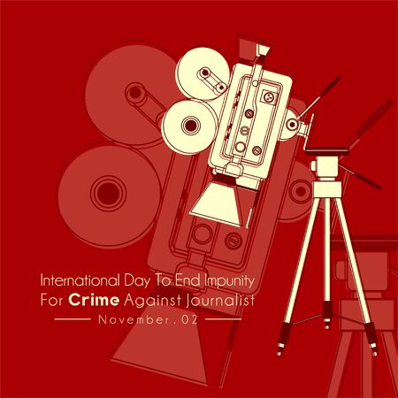 International Day to End Impunity for Crime Against Journalist with The camcorder falls from a tripod and The camcorder falls from a tripod background