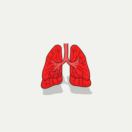 Lungs Cartoon Vector for Template