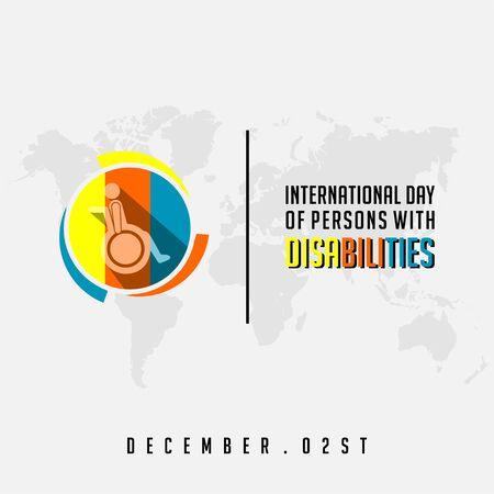 International Day of Person with Disabilities with the person on a wheelchair