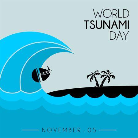 World Tsunami Day, seen from the beach