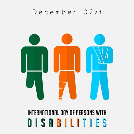 International Day of Person with Disabilities with the person who broken of arm and loss of foot