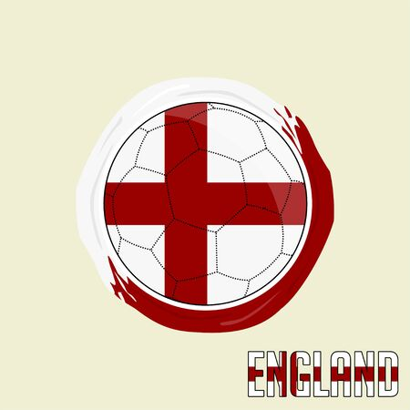 Flag of England, Football championship banner, Vector illustration of abstract soccer ball with England national flag colors vector design design