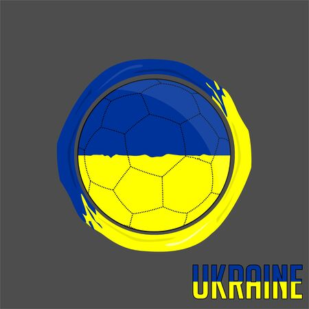 Flag of Ukraine, Football championship banner, Vector illustration of abstract soccer ball with Ukraine national flag colors vector design design