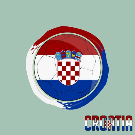 Flag of Croatia, Football championship banner, Vector illustration of abstract soccer ball with Croatian national flag colors vector design design