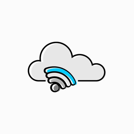 Vector illustration concept of signal cloud computing isolated 向量圖像