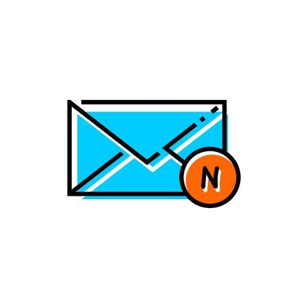 Email Letter Vector Icons, Envelope Cover Communication, new mail icon Ilustração