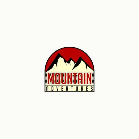 Mountain Template vector cartoon for mountain logo design