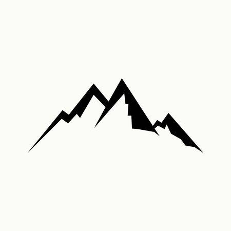 Mountain outline Template vector cartoon for mountain logo design Stock Illustratie