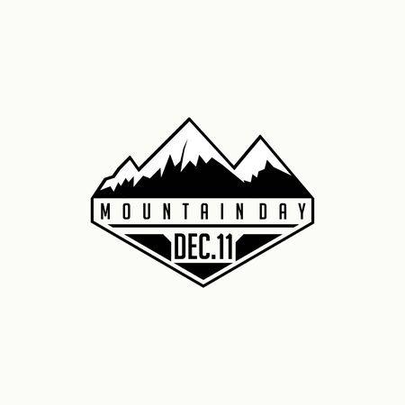 International Mountain Day on 11 December, Mountain logo Design, Mountain Template