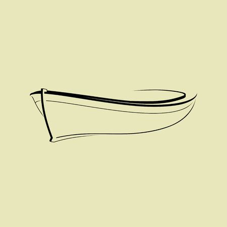 Outline Boat icon for template vector design 向量圖像