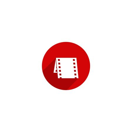 Simple movie icon design for web icon template
