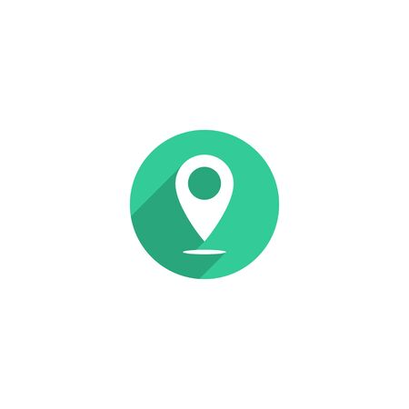 Simple map pin icon design for web icon template