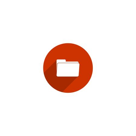 Simple folder icon design for web icon template