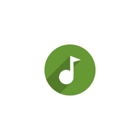 Simple Music icon design for web icon template 向量圖像