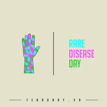 Rare Disease Day design, symbol for rare disease logo, vector illustration Çizim