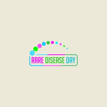 Rare Disease Day design, typography for rare disease Çizim