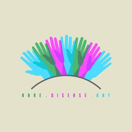 Rare Disease Day design, symbol for rare disease