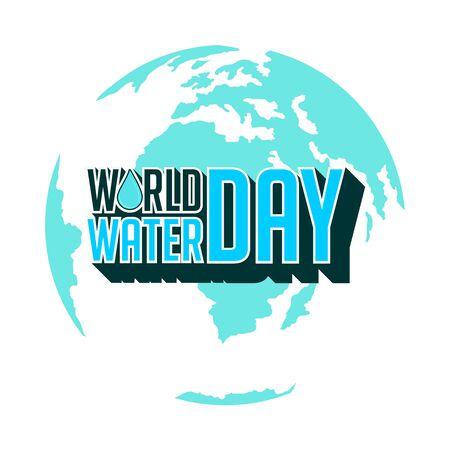 Typography for World Water Day with Earth vector Illustration