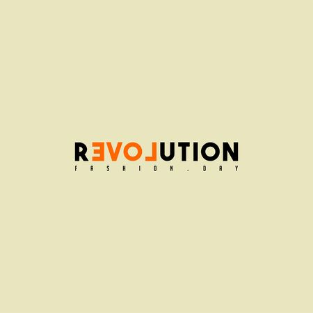 Typography Text for Fashion Revolution Day vector design