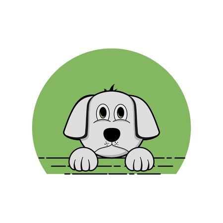 peeping dog vector cartoon for template design Ilustrace