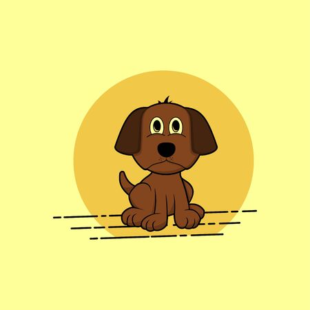 sitting dog vector cartoon for template design Ilustrace