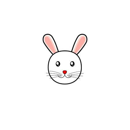 Simple Rabbit vector Illustration for template design, simply Rabbit wallpaper Illusztráció