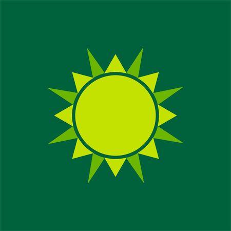 sun vector Illustration for template design, green background